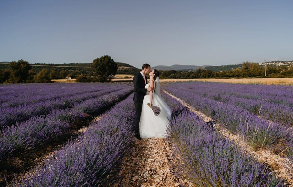 Mariage lavande Provence